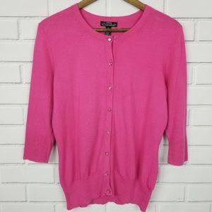 Zena Essentials Long Sleeve Button Up Cardigan